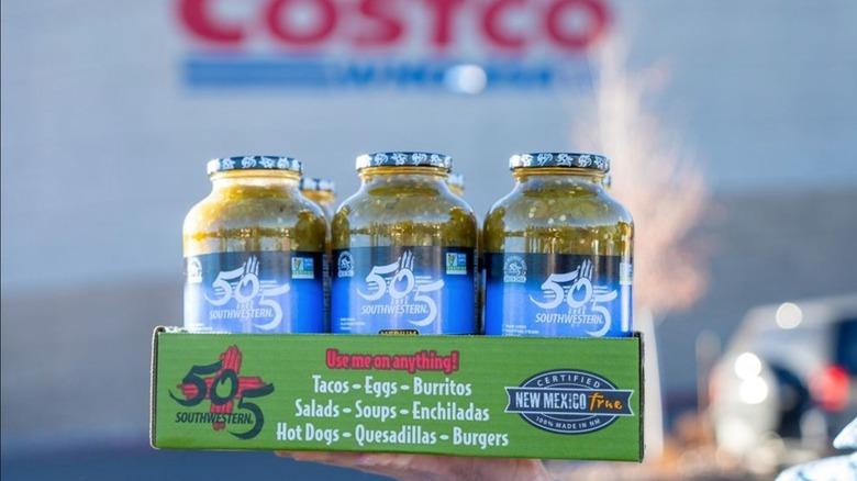 Costco and green chile jars