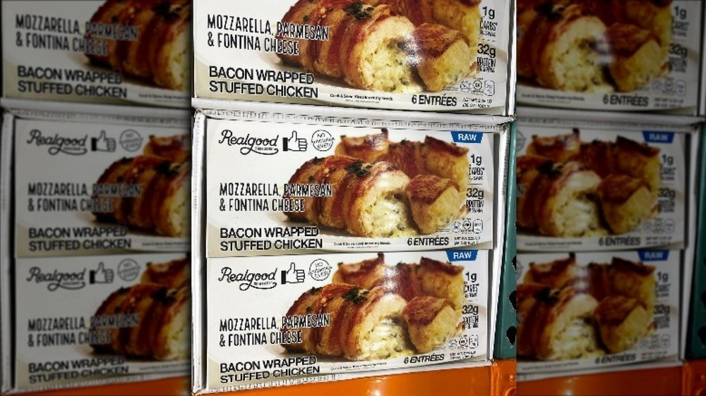 Costco's new bacon wrapped chicken in boxes