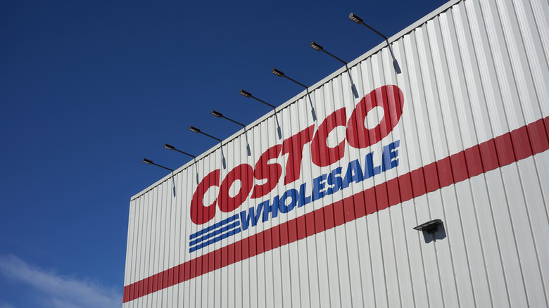 The sign at a Costco wholesale store