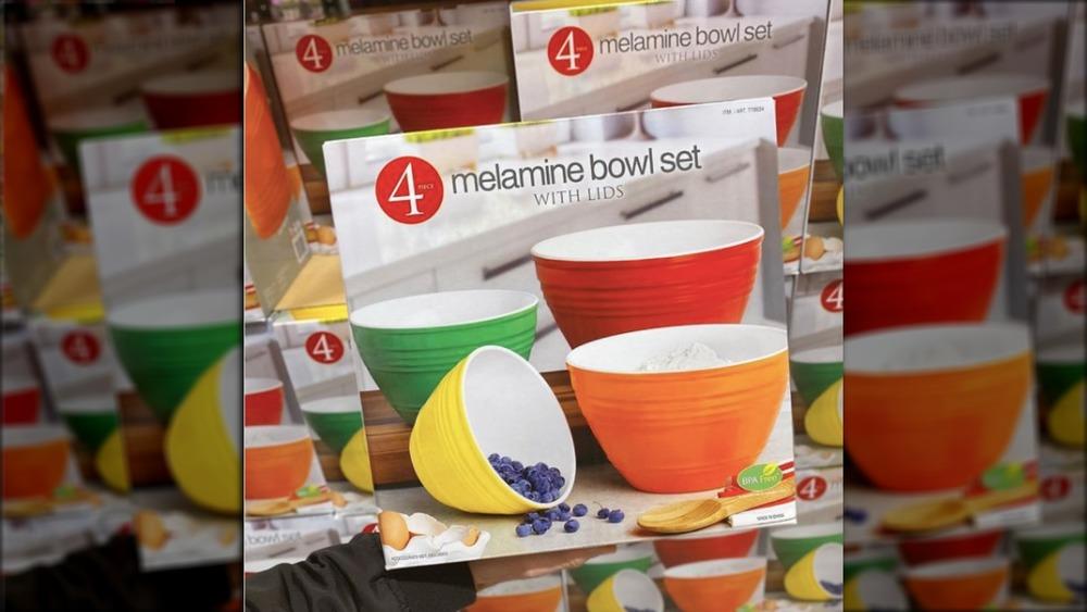 Costco's stackable melamine bowls