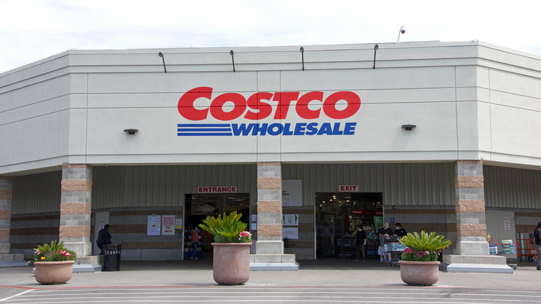 The entrance to a Costco
