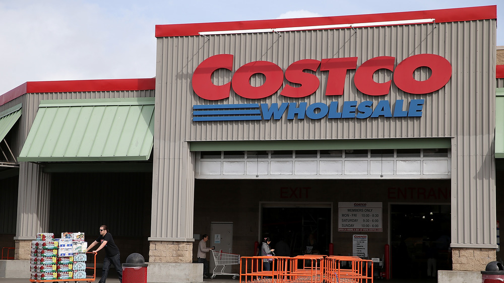 outside of Costco store