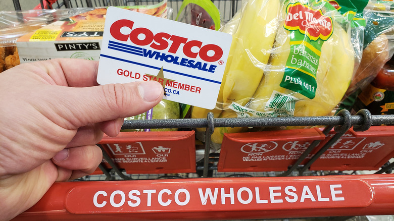 Costco card with a grocery cart