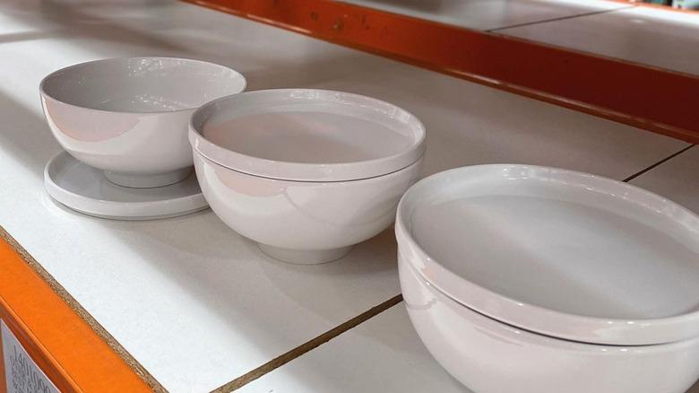 Costco white stoneware bowls