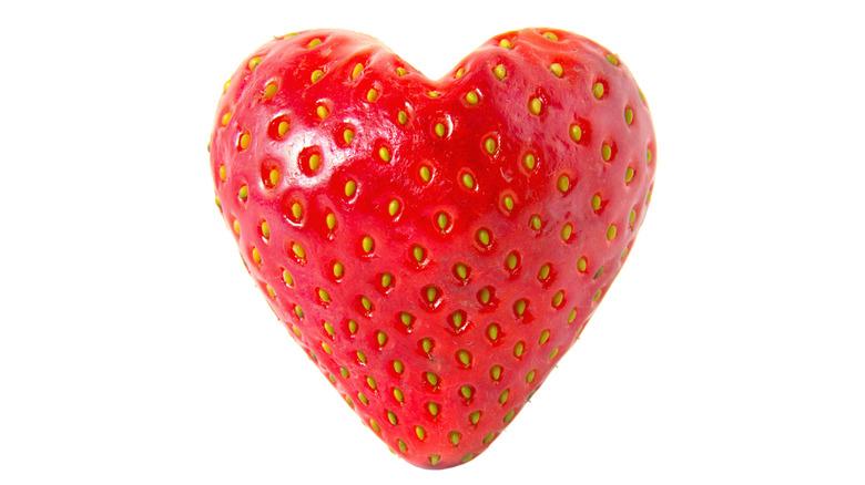 Strawberrry shaped heart