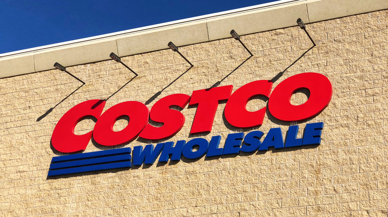 Costco wholesale sign outdoors