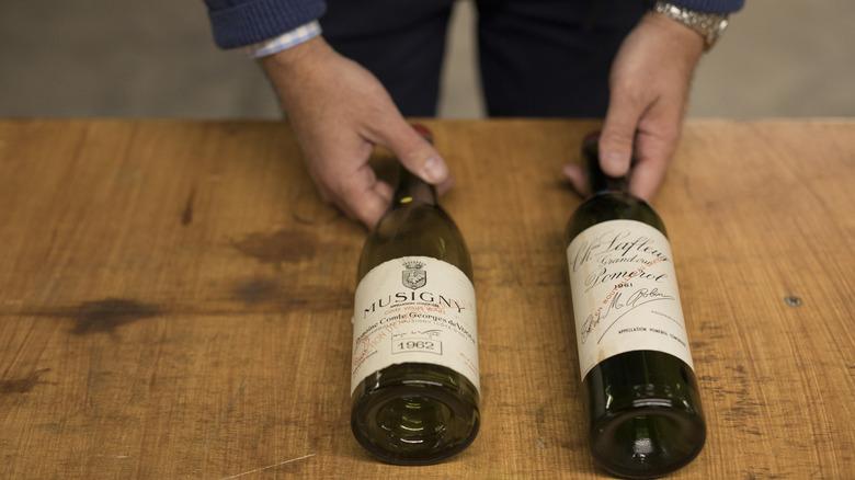 Counterfeit bottles of wine