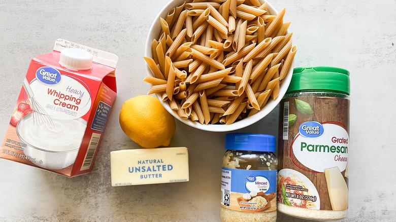 creamy garlic butter pasta ingredients