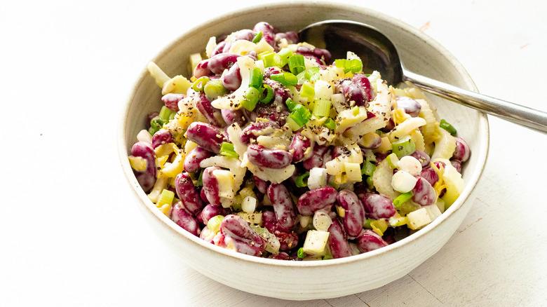 kidney bean salad in bowl