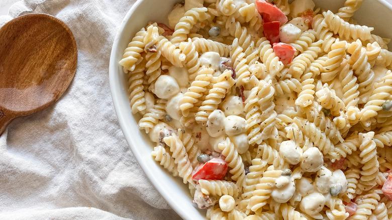 Finished creamy tomato pasta