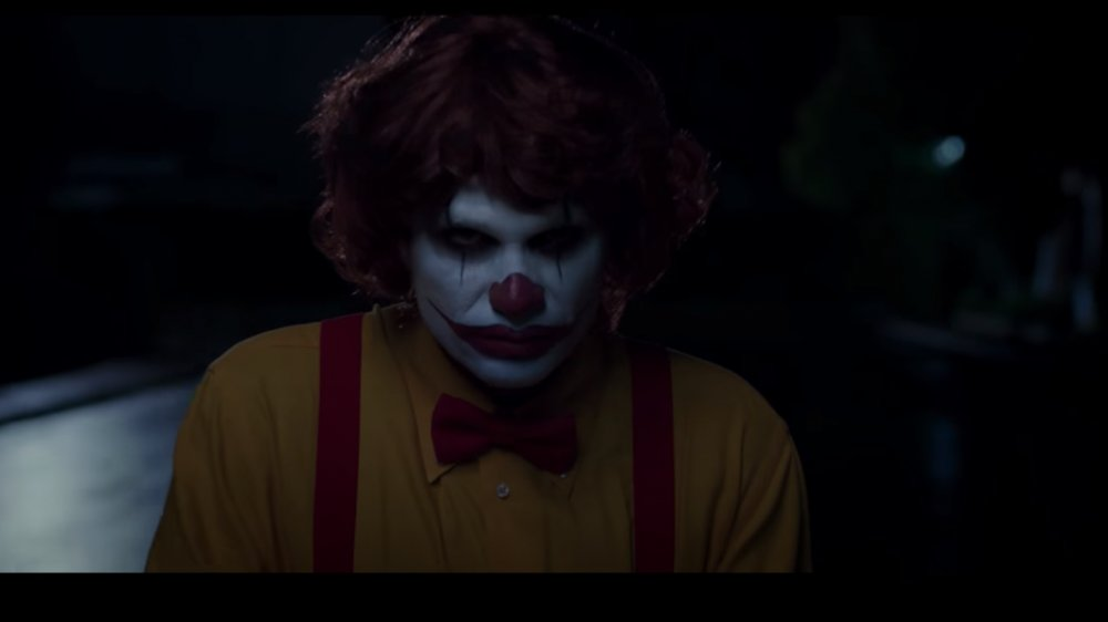 still from Burger King's Scary Clowns fast food commercial