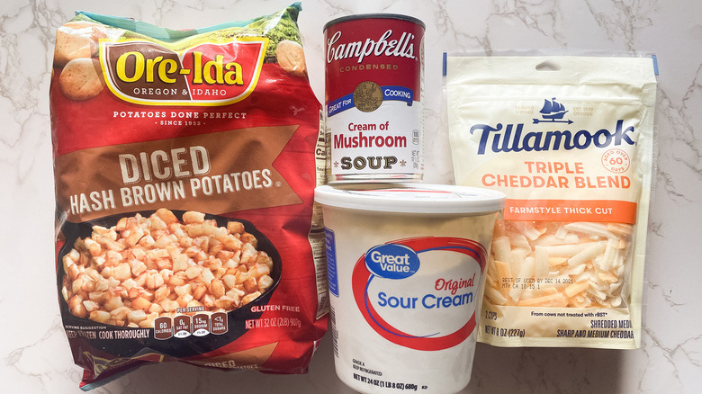 Ingredients for funeral potatoes