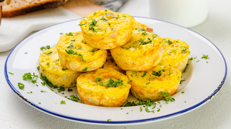 ham and cheese quiche muffins