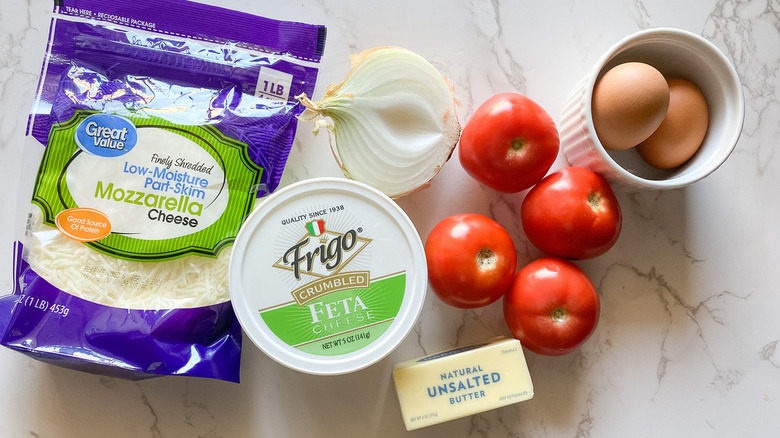 crustless tomato pie ingredients