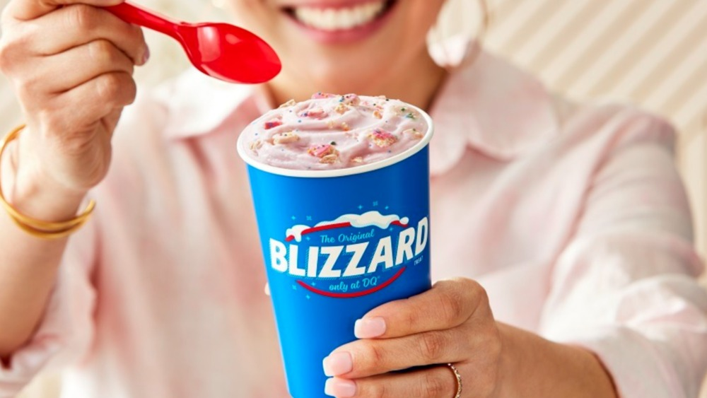 Person eating animal cookie Blizzard