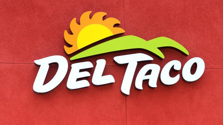 A Del Taco sign