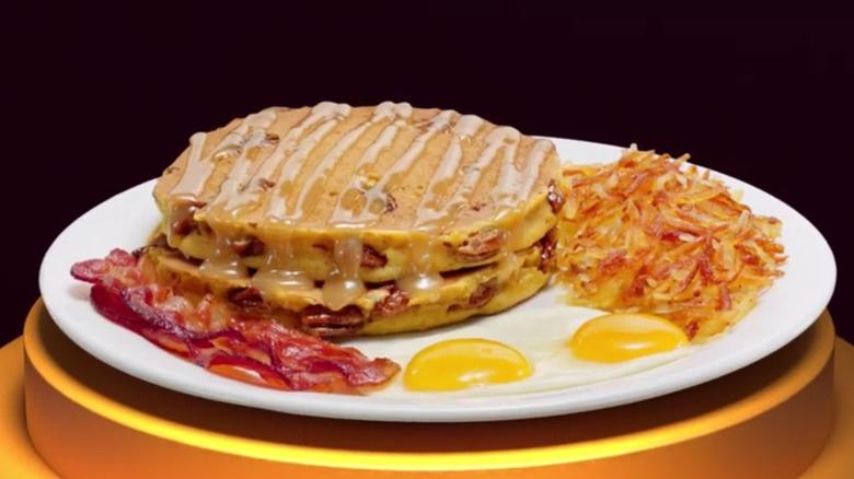 Denny's Pumpkin Pecan Pancakes ad