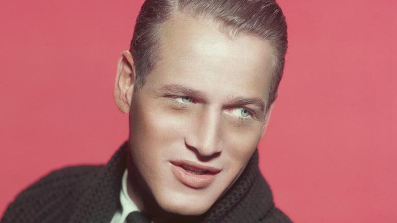 Paul Newman wears sweater