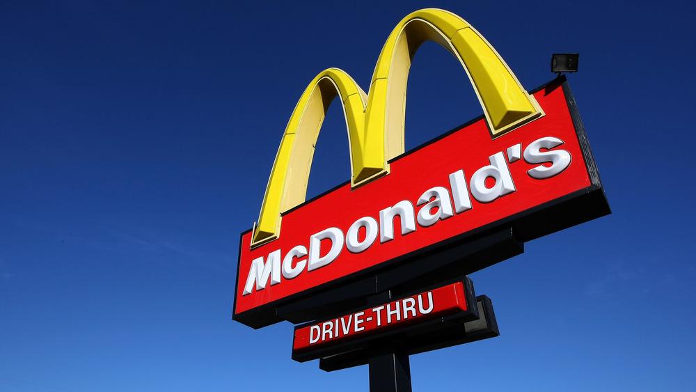 McDonald's drive-thru sign