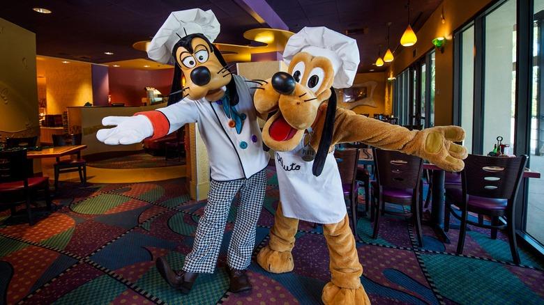 Chefs Goofy and Pluto