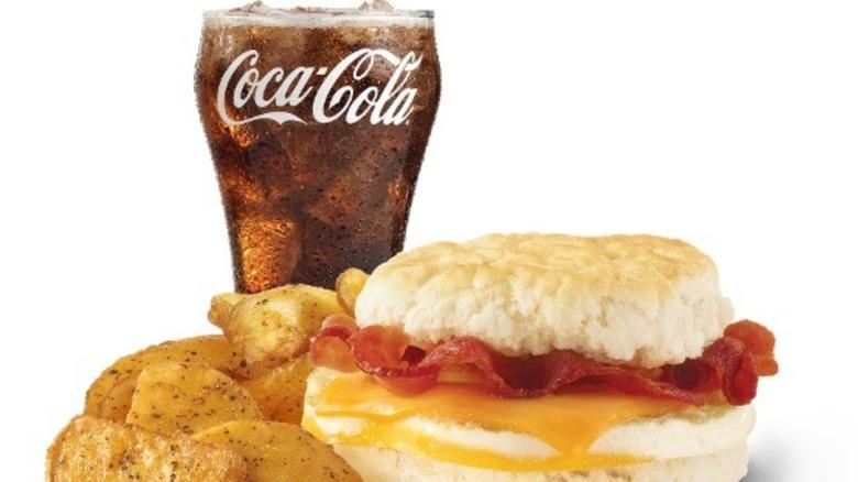 Wendy's breakfast combo with Coke