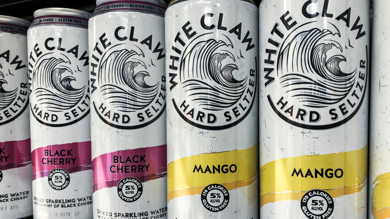 White Claw cans of mango and black cherry