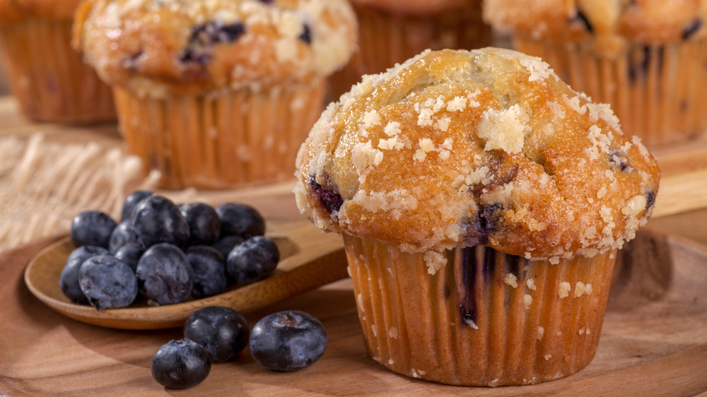 blueberries and moist blueberry muffins