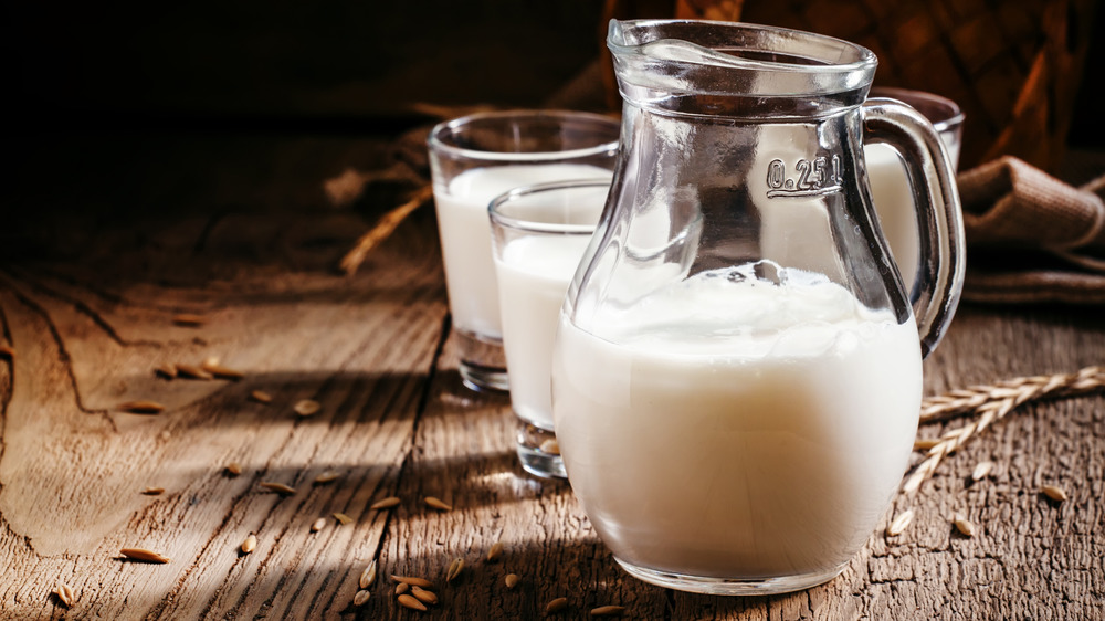 Soothing cold milk