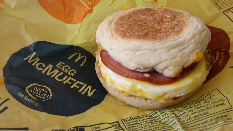 mcdonald's egg sandwich