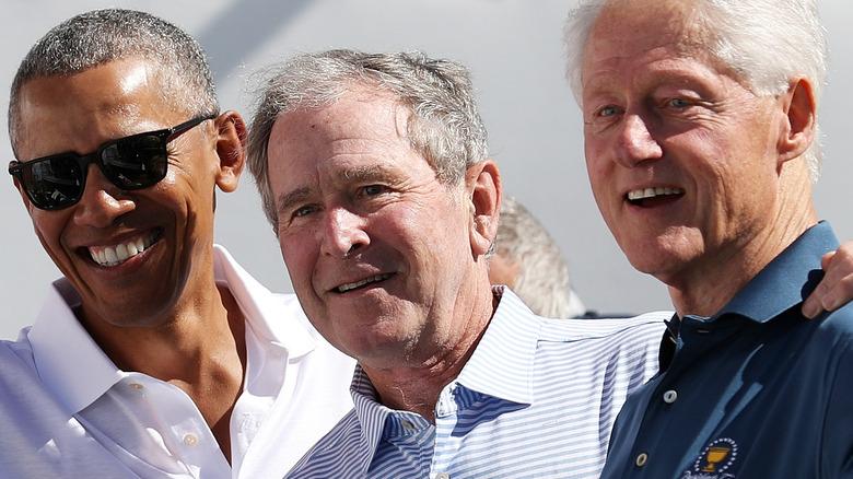 President Obama Bush and Clinton