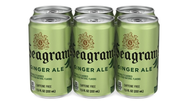 Cans of Seagram ginger ale