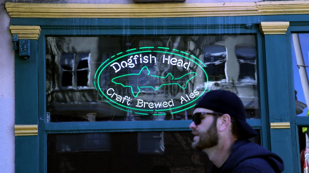 Neon Dogfish Head Brewery sign