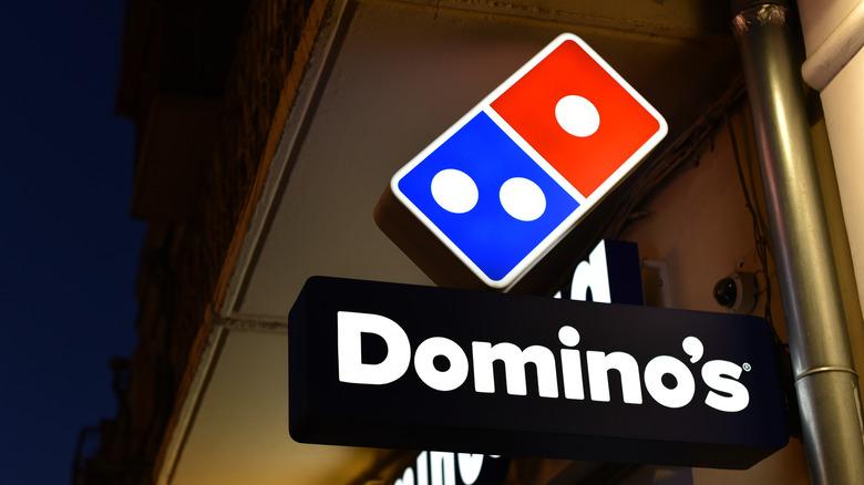 Domino's at night