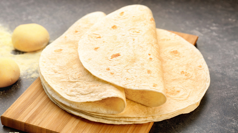 Tortillas on table