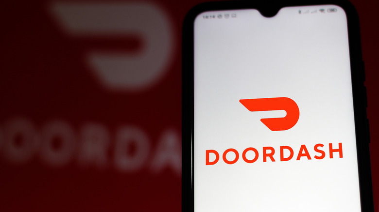 DoorDash logo on smartphone