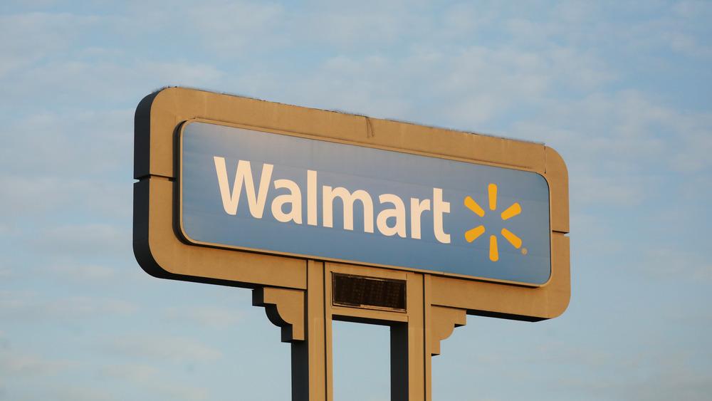 Walmart sign in the sky