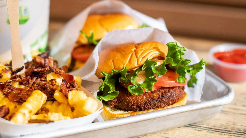 The 'Shroom burger from Shake Shack with fries