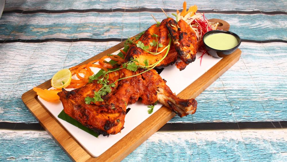 Tandoori chicken on plate