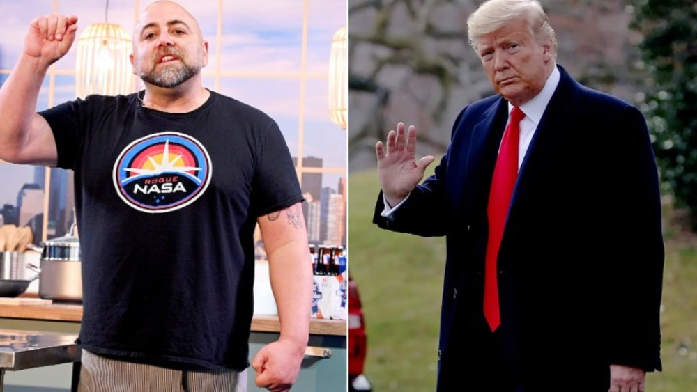 Angry Duff Goldman, sad Donald Trump