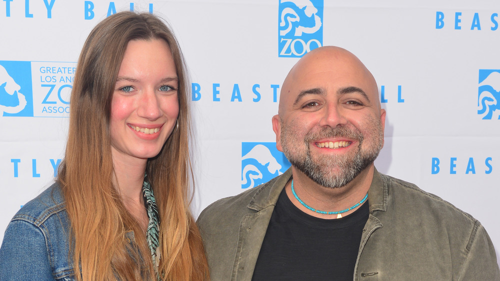 Johnna Goldman and Duff Goldman smiling
