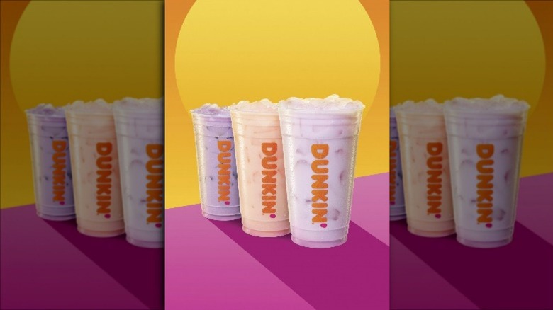 A lineup of Dunkin's new Refreshers