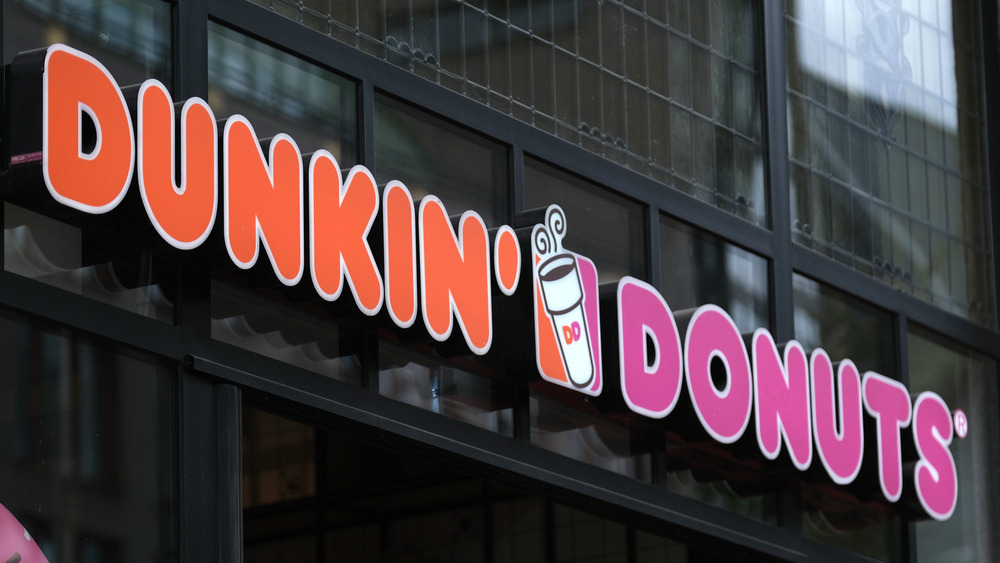 Dunkin' Donuts sign