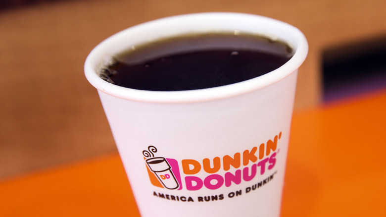 A cup of Dunkin' Donuts Coffee