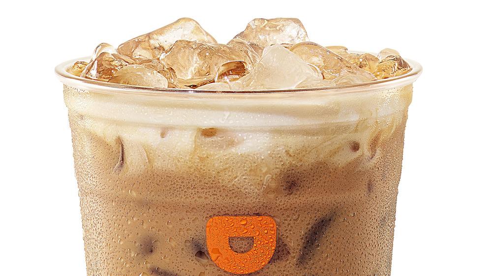 Dunkin iced coffee close-up