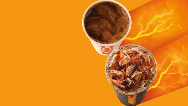Dunkin' Donuts Extra Charged Coffee hot and iced