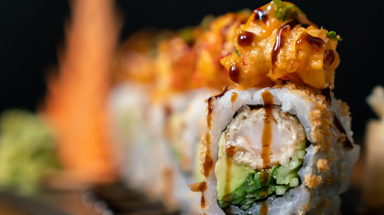 up-close of a dynamite roll