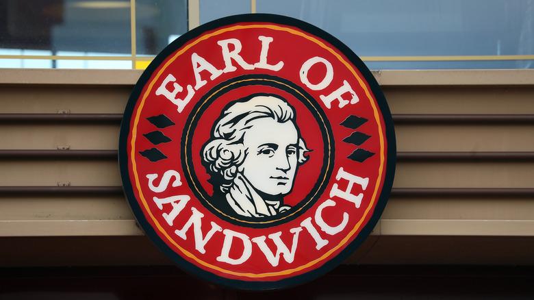 Earl of Sandwich Restaurant sign