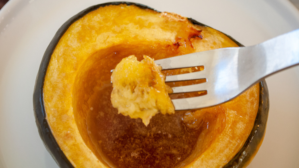 fork with acorn squash