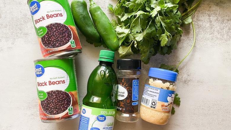 Easy Black Bean Dip Recipe ingredients