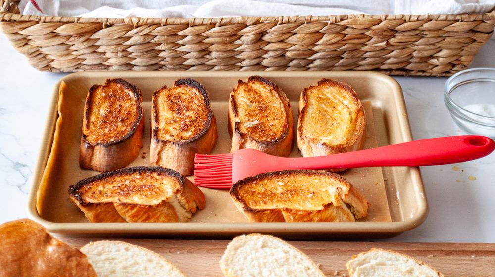 Bruschetta in pan